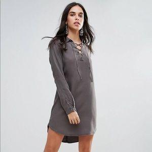 Vera Moda Lace Up Shift Dress